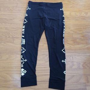 VS Pink Pajama Leggings Pants Black Size Large
